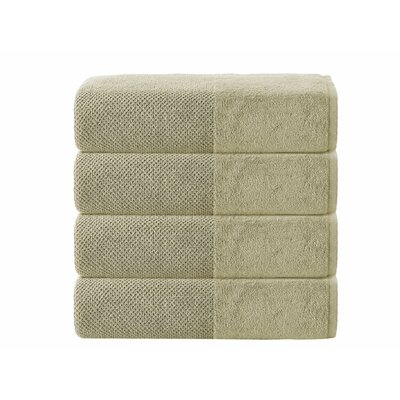 Incanto 100% Turkish Cotton 4 Piece Bath Towel Set Color: Olive