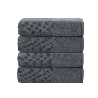 Incanto 100% Turkish Cotton Bath Towel Set Color: Anthracite