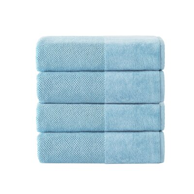 Incanto 100% Turkish Cotton 4 Piece Bath Towel Set Color: Aqua