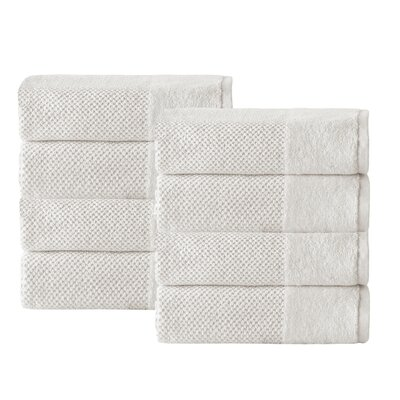 Incanto 100% Turkish Cotton 8 Piece Hand Towel Set Color: Cream