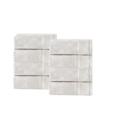 Incanto 100% Turkish Cotton 8 Piece Wash Cloth Set Color: Cream
