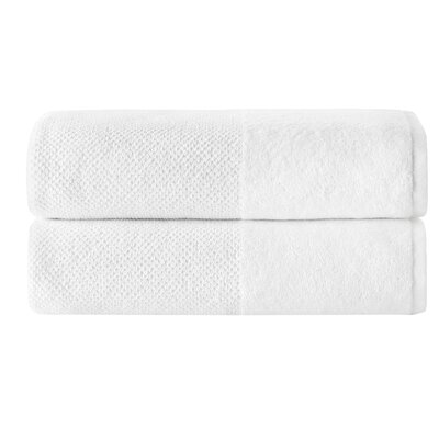 Incanto 100% Cotton Bath Sheet Set Color: White