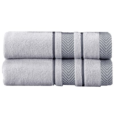Henryetta 100% Cotton Bath Sheet Set Color: Silver