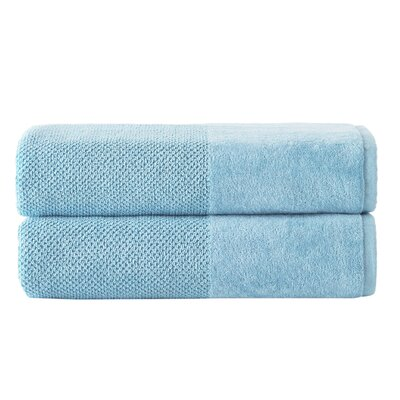 Incanto 100% Cotton Bath Sheet Set Color: Aqua