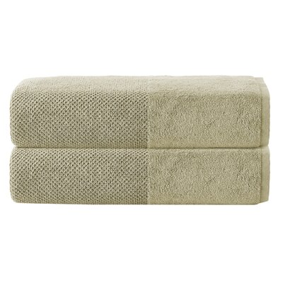 Incanto 100% Cotton Bath Sheet Set Color: Olive