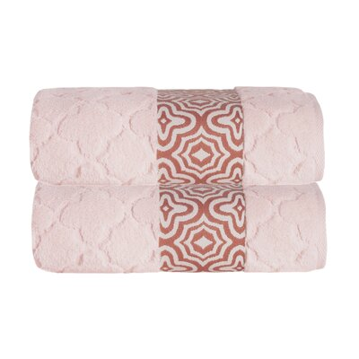 Turner Zero-Twist Bath Sheet Color: Peach