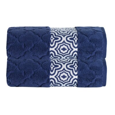 Turner Zero-Twist Bath Sheet Color: Navy