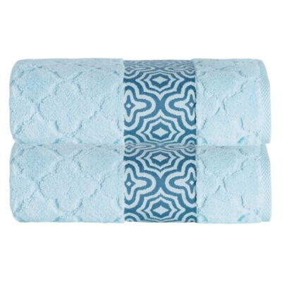 Turner Zero-Twist Bath Sheet Color: Aqua