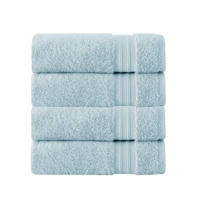 100% Turkish Cotton Hand Towel Color: Aqua