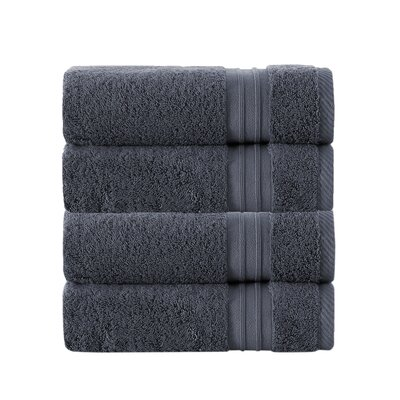 100% Turkish Cotton Hand Towel Color: Anthracite