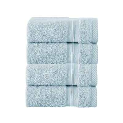 100% Turkish Cotton Wash Cloth Color: Aqua