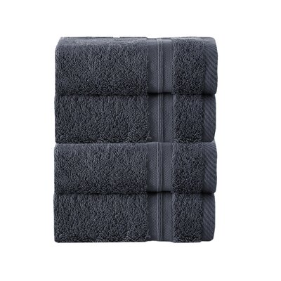 100% Turkish Cotton Wash Cloth Color: Anthracite