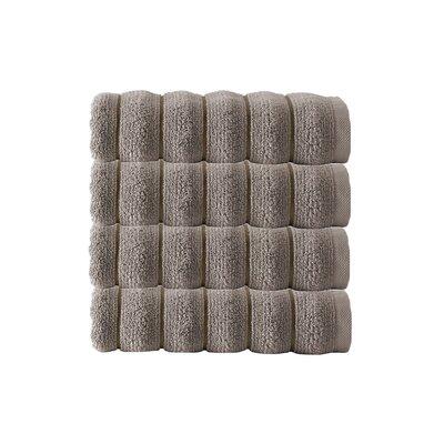 Vague Zero Twist 100% Turkish Micro Cotton Hand Towel Color: Beige