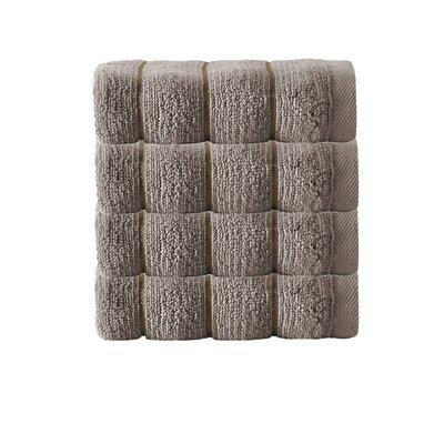 Vague Zero Twist 100% Turkish Micro Cotton Wash Cloth Color: Beige