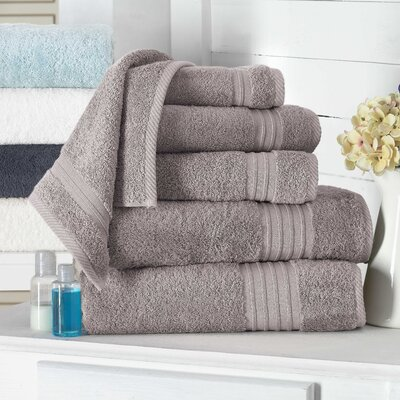 Barclay 100% Turkish Cotton Hand Towel Color: Taupe