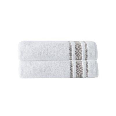 Cornelia 100% Turkish Cotton Bath Towel Color: Beige