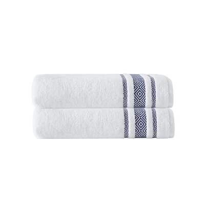 Cornelia 100% Turkish Cotton Bath Towel Color: Navy