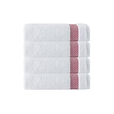 Cornelia 100% Turkish Cotton Hand Towel Color: Red