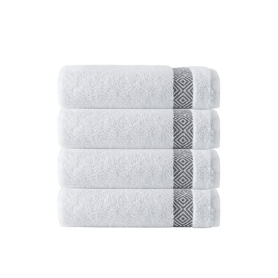Cornelia 100% Turkish Cotton Hand Towel Color: Anthracite