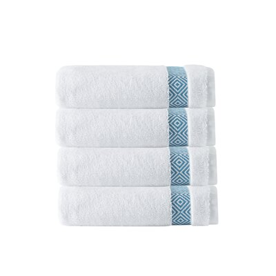 Cornelia 100% Turkish Cotton Hand Towel Color: Aqua