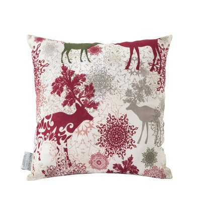 Deer Turkish Cotton Indoor/Outdoor Throw Pillow