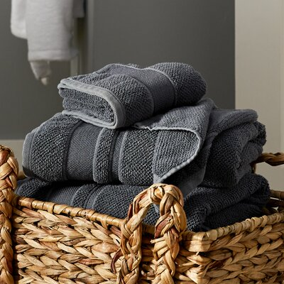 6 Piece Towel Set Color: Anthracite