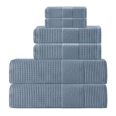 Ria 6 Piece Towel Set Color: Navy