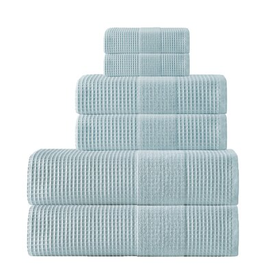 Ria 6 Piece Towel Set Color: Aqua