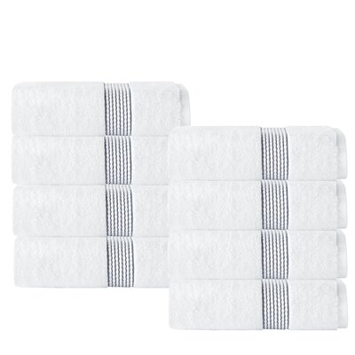 Elegante Washcloth Color: White/Anthracite