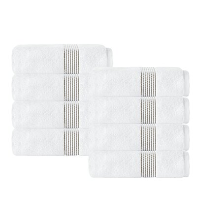 Elegante Washcloth Color: White/Beige