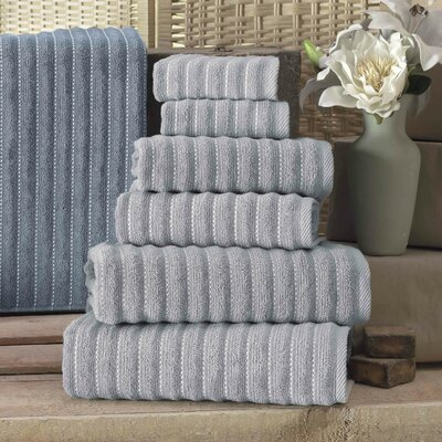 Napa Turkish Cotton 6 Piece Towel Set Color: Gray