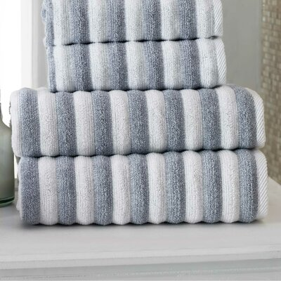 Napa Bath Towel Color: White/Navy
