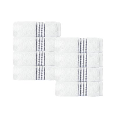 Elegante Wash Cloth Color: White/Anthracite