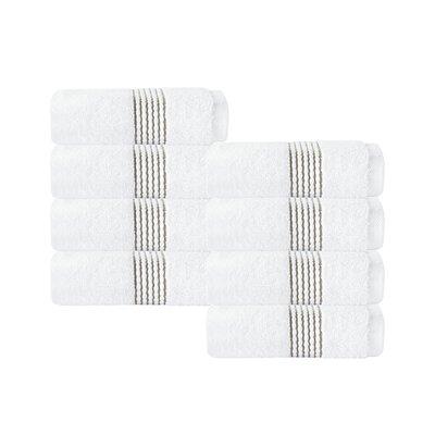 Elegante Wash Cloth Color: White/Beige