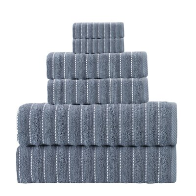 Napa Turkish Cotton 6 Piece Towel Set Color: Navy