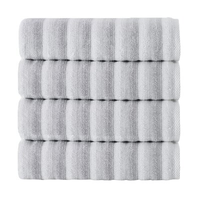 Napa Bath Towel Color: White/Gray
