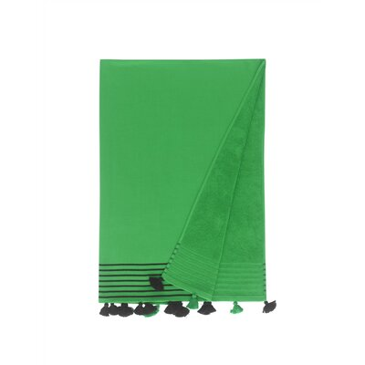 Lightweight Pestemal Fouta Turkish Cotton Beach Towel Color: Emerald