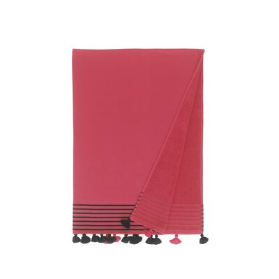 Lightweight Pestemal Fouta Turkish Cotton Beach Towel Color: Fuchsia