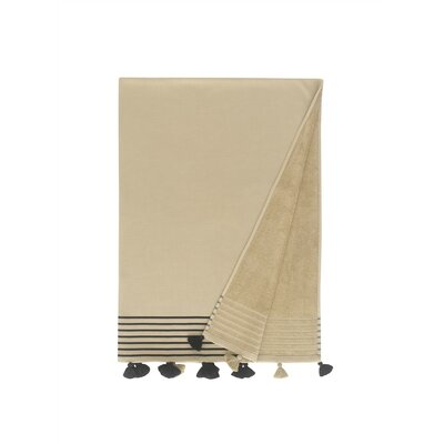 Lightweight Pestemal Fouta Turkish Cotton Beach Towel Color: Sand