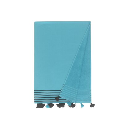 Lightweight Pestemal Fouta Turkish Cotton Beach Towel Color: Turqouise