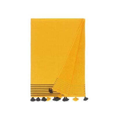 Lightweight Pestemal Fouta Turkish Cotton Beach Towel Color: Yellow