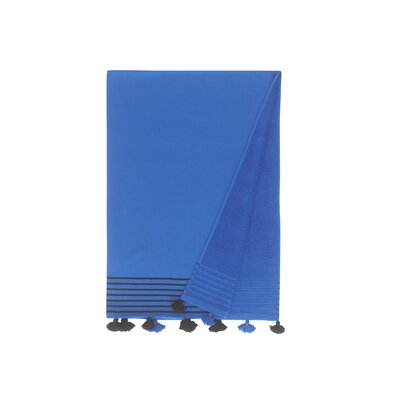 Lightweight Pestemal Fouta Turkish Cotton Beach Towel Color: Navy
