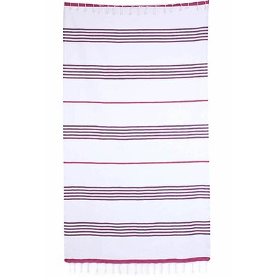 Handmade Pestemal Fouta Turkish Cotton Beach Towel Color: Fuchsia