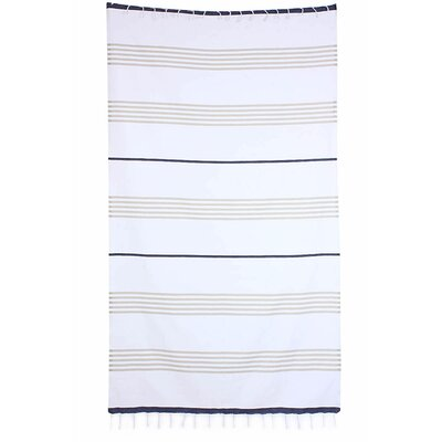 Handmade Pestemal Fouta Turkish Cotton Beach Towel Color: Brown