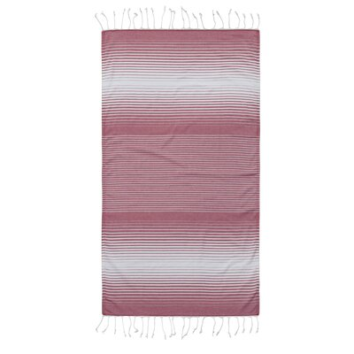 Pestemal Fouta Turkish Cotton Beach Towel Color: Red