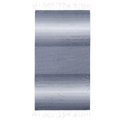 Pestemal Fouta Turkish Cotton Beach Towel Color: Navy