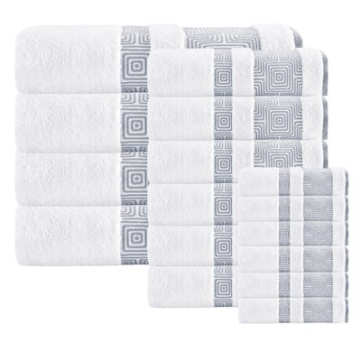 Heritage Hills 16 Piece Turkish Cotton Towel Set Color: White