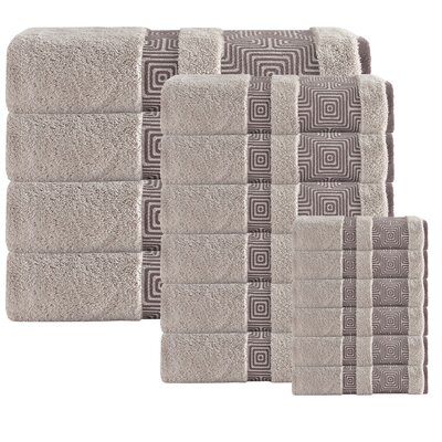 Heritage Hills 16 Piece Turkish Cotton Towel Set Color: Beige