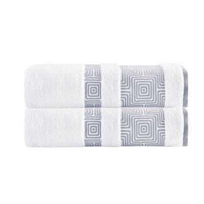 Greenwalt Turkish Cotton Bath Towel Color: White