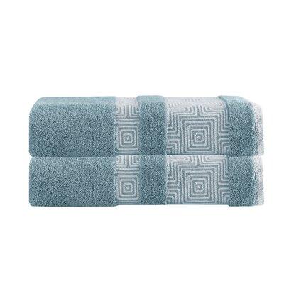 Greenwalt Turkish Cotton Bath Towel Color: Aqua